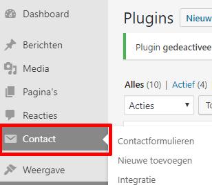 contactform 7 installeren