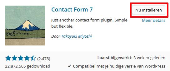 Contact Form 7 installeren